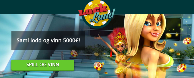 Vinn 5000€ i Lucklands mai-lotteri!