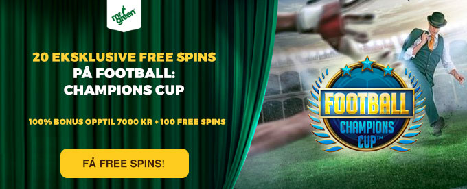 Gratis free spins på Football: Champions Cup hos Mr Green