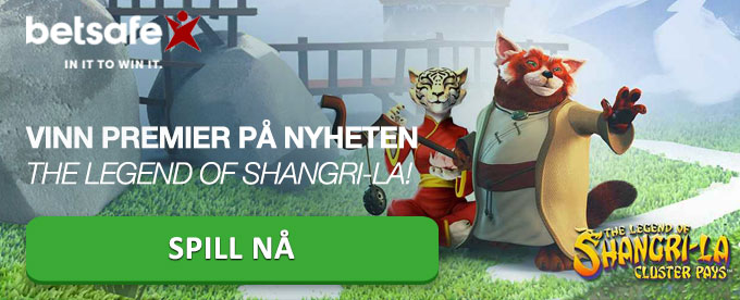 Spill og vinn på nyheten The Legend of Shangri-La hos Betsafe