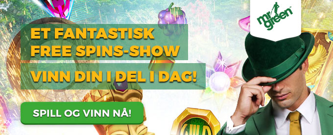 Mr Green deler ut free spins hver dag frem til 5. september
