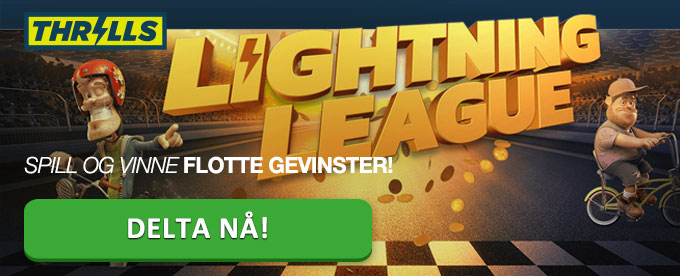 Delta og vinn i Lightning League turneringene hos Thrills Casino