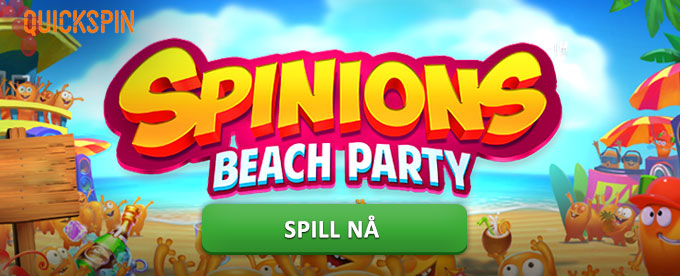 Vinn festlige gevinster i spilleautomaten Spinions Beach Party av Quickspin