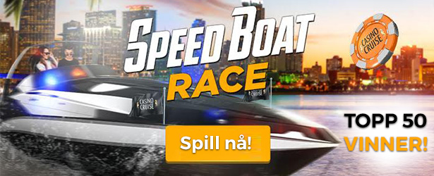 Speedboat race hos CasinoCruise med hundrevis av premier!